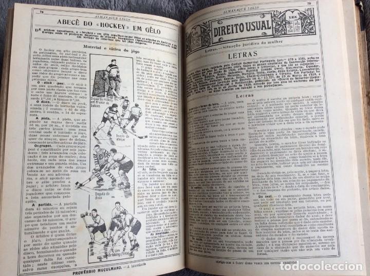 Libros antiguos: Almanaque Lello, 1935. ( historia, viajes, ciencia, pasatiempos, curiosidades, etc. ). Envio grátis - Foto 12 - 194889322