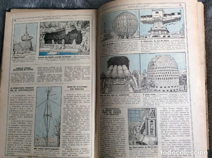 Libros antiguos: Almanaque Lello, 1933. ( historia, viajes, ciencia, pasatiempos, curiosidades, etc. ). Envio grátis - Foto 10 - 194890866