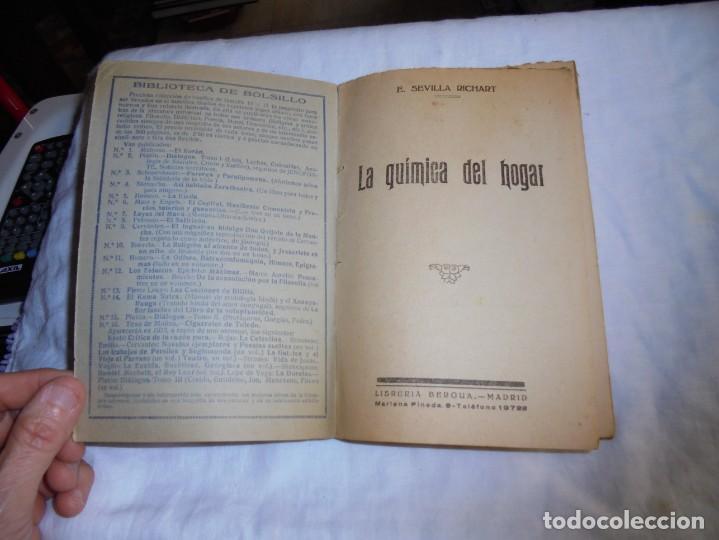 Libros antiguos: LA QUIMICA DEL HOGAR.TODOS LOS SECRETOS DE LA ECONOMIA DOMESTICA.E.SEVILLA RICHART.PEQUEÑA ENCICLOPE - Foto 2 - 194895048