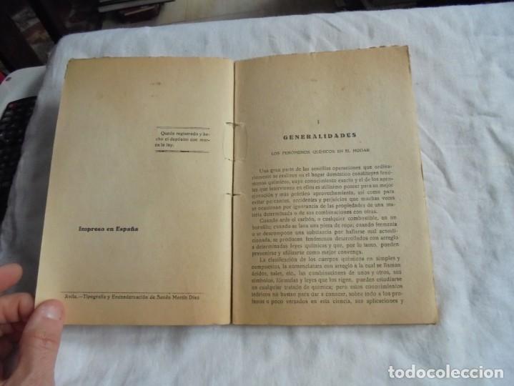 Libros antiguos: LA QUIMICA DEL HOGAR.TODOS LOS SECRETOS DE LA ECONOMIA DOMESTICA.E.SEVILLA RICHART.PEQUEÑA ENCICLOPE - Foto 3 - 194895048