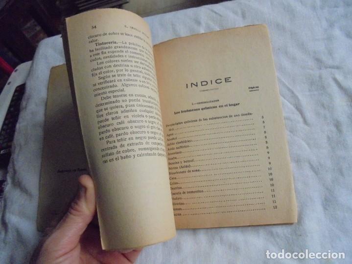 Libros antiguos: LA QUIMICA DEL HOGAR.TODOS LOS SECRETOS DE LA ECONOMIA DOMESTICA.E.SEVILLA RICHART.PEQUEÑA ENCICLOPE - Foto 4 - 194895048