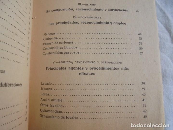 Libros antiguos: LA QUIMICA DEL HOGAR.TODOS LOS SECRETOS DE LA ECONOMIA DOMESTICA.E.SEVILLA RICHART.PEQUEÑA ENCICLOPE - Foto 10 - 194895048