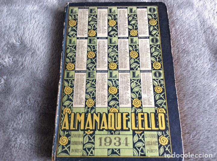 Libros antiguos: Almanaque Lello, 1934. ( historia, viajes, ciencia, pasatiempos, curiosidades, etc. ). Envio grátis - Foto 2 - 194897195
