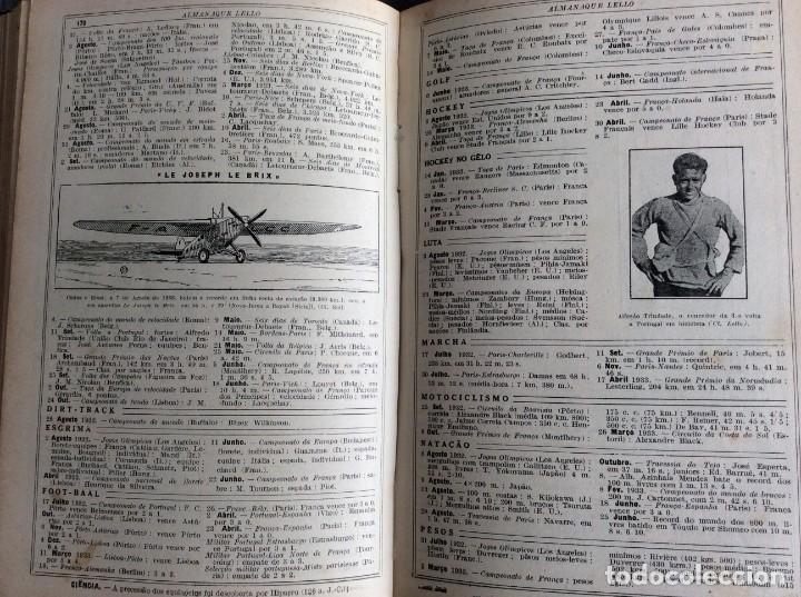 Libros antiguos: Almanaque Lello, 1934. ( historia, viajes, ciencia, pasatiempos, curiosidades, etc. ). Envio grátis - Foto 14 - 194897195