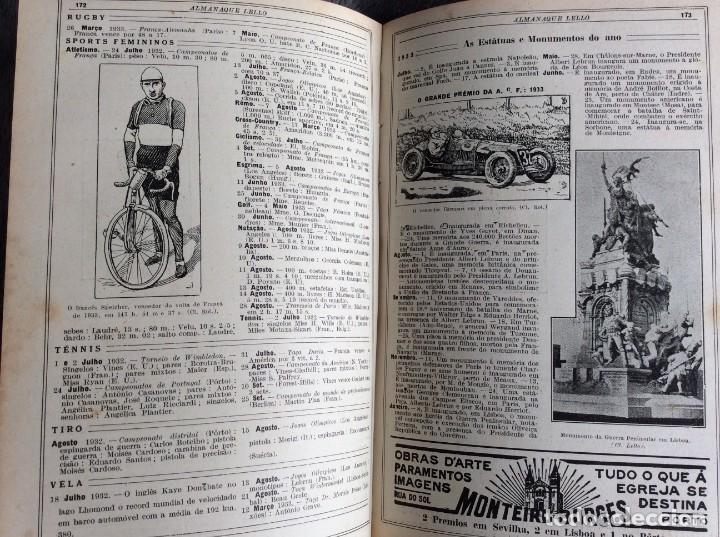 Libros antiguos: Almanaque Lello, 1934. ( historia, viajes, ciencia, pasatiempos, curiosidades, etc. ). Envio grátis - Foto 15 - 194897195