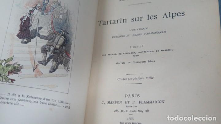 Libros antiguos: 1886.- TARTARIN SUR LES ALPES. DAUDET - Foto 2 - 194900892