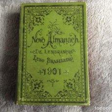 Libros antiguos: LOTE CON 5 ( ALMANACH DE LEMBRANÇAS LUSO - BRAZILEIRO ) DATAS: 1864, 1865, 1871, 1894, 1900. . Lote 194909711