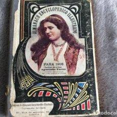 Libros antiguos: ALMANACH ENCICLOPÉDICO ILUSTRADO PARA 1908 COORDINADO POR AGOSTINHO FORTES. RARO. ENVIO GRÁTIS. Lote 194910780