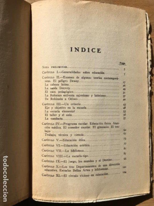 Libros antiguos: JOSÉ VASCONCELOS. DE ROBINSON A ODISEO. PEDAGOGÍA ESTRUCTURATIVA. - Foto 3 - 194783685