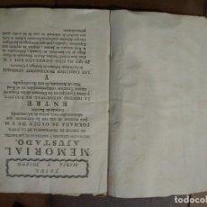 Libros antiguos: MEMORIAL AJUSTADO DIGNIDAD ARZOBISPAL DE TOLEDO, ARANJUEZ Y CABALLEROS MILITARES SANTIAGO CALATRAVA. Lote 194922450