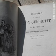 Libros antiguos: DON QUICHOTTE HACHETTE PARIS 1863, ILUSTRADO POR BERTRAL ET FOREST. Lote 194930353