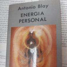 Libros antiguos: ENERGIA PERSONAL ANTONIO BLAY . Lote 194960057