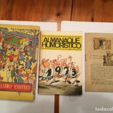Libros antiguos: OTRO LIBRO DE CHISTES,Y ALMANAQUE DE HUMOR, LOTE 3 LIBROS. Lote 194976826