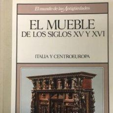 Libros antiguos: COLECCION DE 12 LIBROS HISTORIA DEL MUEBLE ANTIGUO EN ESPAÑA Y EUROPA DESDE SIGLO XV AL XX. Lote 195001206