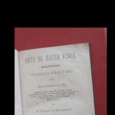 Libros antiguos: ARTE DE HACER VINOS. MANUAL TEÓRICO-PRÁCTICO DEL ARTE DE CULTIVAR LAS VIÑAS. NICOLÁS DE BUSTAMANTE. Lote 195003736