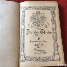 Libros antiguos: THIEL, JULIE: TEATRO ALEMÁN EN CASA PARA NIÑOS GRANDES Y PEQUEÑOS. AÑO 1884. ILUSTRADO. ENVIO GRÁTIS. Lote 195018755