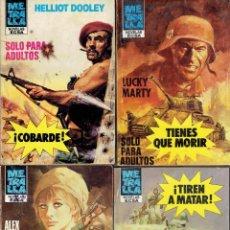Libros antiguos: LOTE DE 77 NOVELAS BELICAS COLECCION METRALLA EDITORIAL BURGUERA AÑO 1984. Lote 195047357
