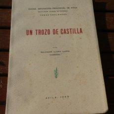 Libros antiguos: UN TROZO DE CASTILLA . SALVADOR LLOPIS LLOPIS. EXCMA. DIPUTACIÓN DE AVILA. TEMAS ABULENSES. 1959. Lote 195055487