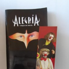Libros antiguos: # CIRQUE DU SOLEIL, ¡ ALEGRIA ! EUROPEAN TOUR , 1997- 1998 #. Lote 195086773