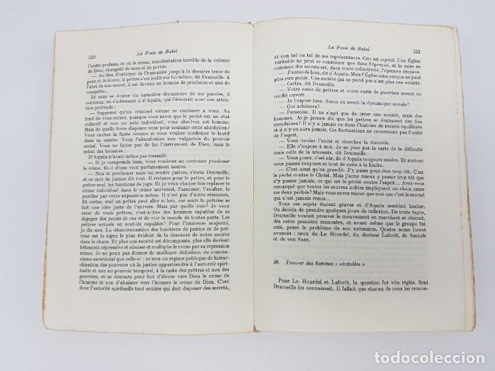 Libros antiguos: LA FOSSE DE BABEL, ROMAN ( EN FRANCES ) 1962 ( BABILONIA ) - Foto 7 - 195102165