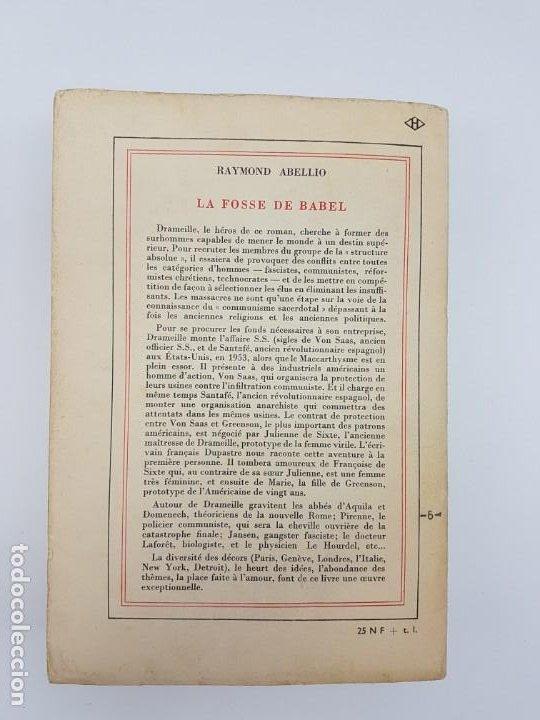 Libros antiguos: LA FOSSE DE BABEL, ROMAN ( EN FRANCES ) 1962 ( BABILONIA ) - Foto 11 - 195102165