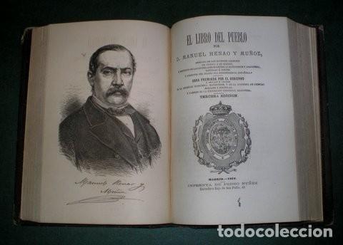HENAO Y MUÑOZ, MANUEL: EL LIBRO DEL PUEBLO I Y II. 1872 (Libros Antiguos, Raros y Curiosos - Pensamiento - Otros)
