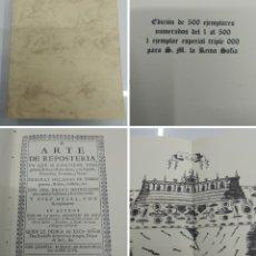 Libros antiguos: ARTE DE REPOSTERÍA JUAN DE LA MATA FACSIMIL ED. HISTORICO ARTISTICAS 500 EJEMPLARES DESPLEGABLES. Lote 195111817