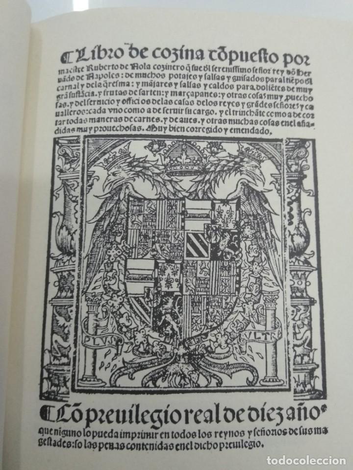 Libros antiguos: LIBRO DE COCINA RUPERTO DE NOLA FACSIMIL ED. HISTORICO ARTISTICAS TIRADA 500 ejemplares - Foto 2 - 195113232