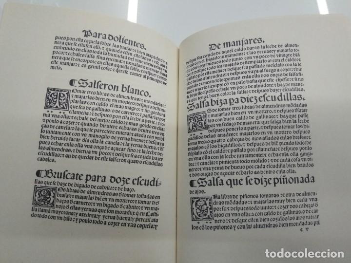 Libros antiguos: LIBRO DE COCINA RUPERTO DE NOLA FACSIMIL ED. HISTORICO ARTISTICAS TIRADA 500 ejemplares - Foto 7 - 195113232