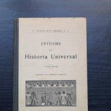 Libros antiguos: EPÍTOME DE HISTORIA UNIVERSAL. Lote 195114655