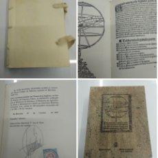 Libros antiguos: TRATADO DE LA ESFERA Y DEL ARTE DE MAREAR FACSIMIL TIRADA 550 EJ. BIBLIOFILIA M° DEFENSA ED. HISTOR. Lote 195117068