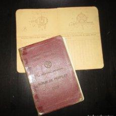 Libros antiguos: DURO-FELGUERA. ÁLBUM DE PERFILES DE 1929 CON PLANO DE MOTOR Y NOTAS MANUSCRITAS. GRUPO LAVIANA.. Lote 195126658