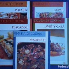 Libros antiguos: ESCUELA DE COCINA 5 VOLÚMENES - ALBOR LIBROS 2002. Lote 195128045