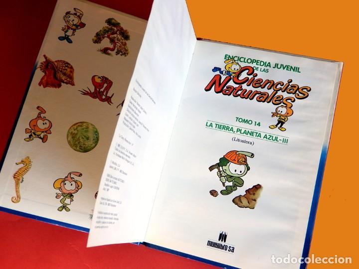 Libros antiguos: ENCICLOPEDIA JUVENIL DE LAS CIENCIAS NATURALES - LA TIERRA, PLANETA AZUL - III / TOMO 14 - 1987 - Foto 3 - 195148685