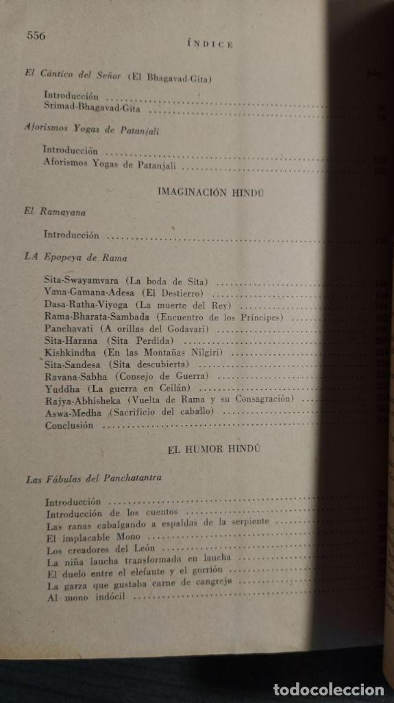Libros antiguos: SABIDURIA HINDU LIN YUTANG. LIBRERÍA NUEVA, 1959 . - Foto 6 - 195152887