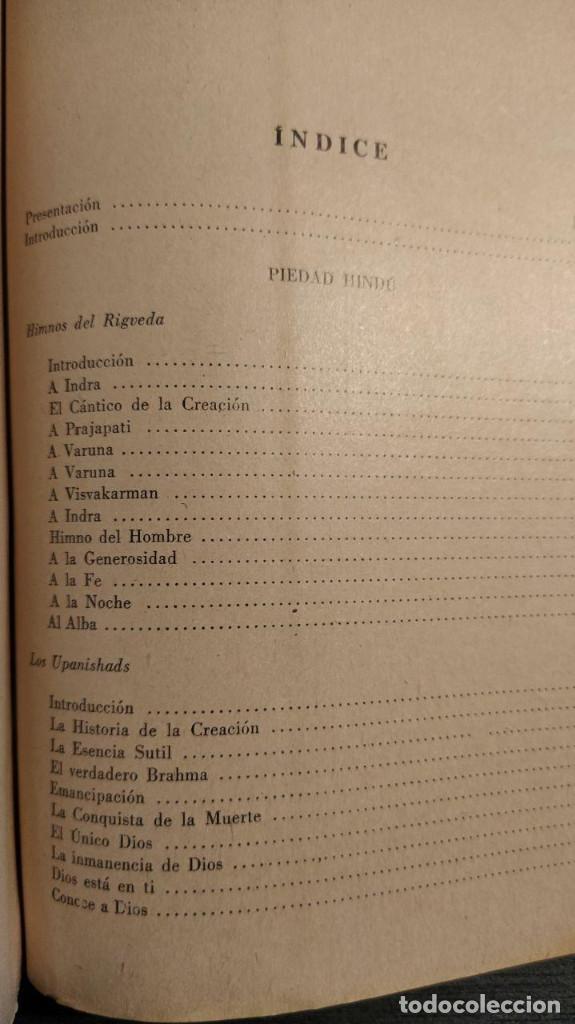 Libros antiguos: SABIDURIA HINDU LIN YUTANG. LIBRERÍA NUEVA, 1959 . - Foto 8 - 195152887