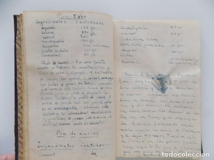 LIBRERIA GHOTICA. RARO MANUSCRITO TITULADO RECETARIO PARA GASTRÓNOMOS. HACIA 1950. (Libros Antiguos, Raros y Curiosos - Cocina y Gastronomía)