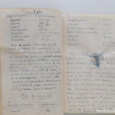 Libros antiguos: LIBRERIA GHOTICA. RARO MANUSCRITO TITULADO RECETARIO PARA GASTRÓNOMOS. HACIA 1950.. Lote 195164987