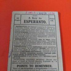 Libros antiguos: ESPERANTO. Lote 195191040