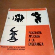 Libros antiguos: PSICOLOGÍA APLICADA A LA ENSEÑANZA . Lote 195197752