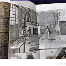 Libros antiguos: AÑO 1779: ARTE DE CONVERTIR EL COBRE EN LATÓN. ILUSTRACIONES DESPLEGABLES. EX-LIBRIS DE TALAVERA.. Lote 195206558