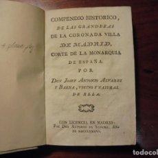 Libros antiguos: GRANDEZAS DE MADRID. ALVAREZ DE BAENA. 1786. PLANO PLEGADO. Lote 195214700