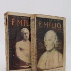 Libros antiguos: EMILIO TOMOS I Y II (J.J. ROUSSEAU) MAUCCI, CIRCA 1910. Lote 195215642