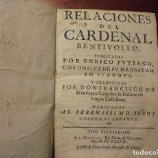 Libros antiguos: GUERRAS DE FLANDES. BENTIVOGLIO. 1638. Lote 195216016