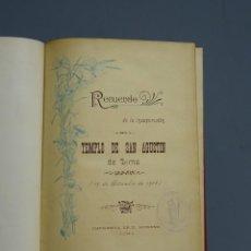 Libros antiguos: RECUERDO DE LA INAUGURACIÓN DEL TEMPLO DE SAN AGUSTÍN DE LIMA - 1908. Lote 195222631