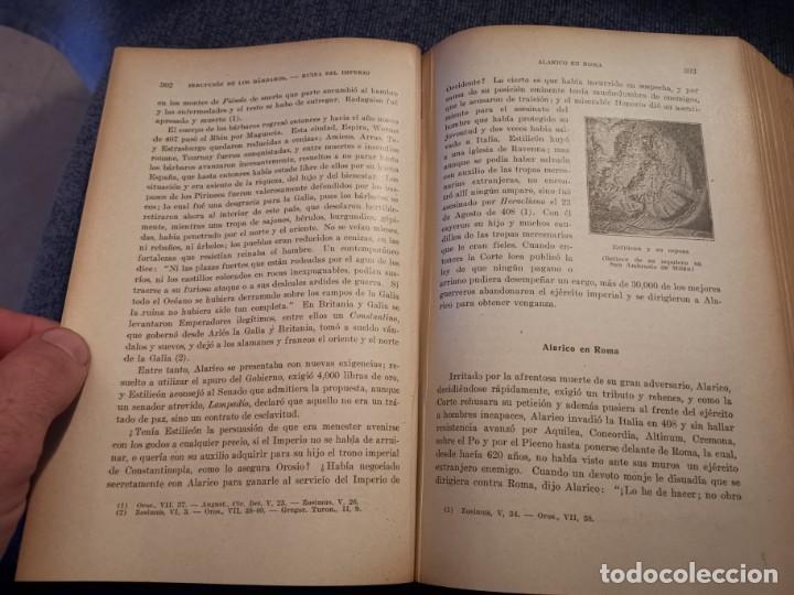 Libros antiguos: HISTORIA UNIVERSAL LOS BÁRBAROS Y EL IMPERIO DR. J. BTA. WEISS 1927 - Foto 12 - 195240666