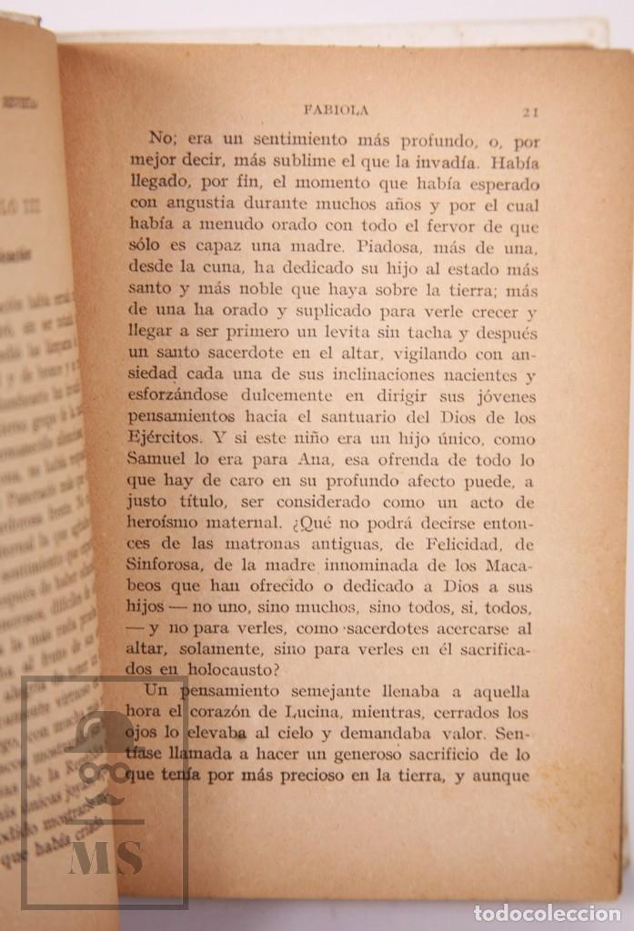 Libros antiguos: Pareja de Libros Biblioteca Mi Revista - Fabiola, Tomos 1 y 2. Cardenal Wiseman - Ed. Gallach - Foto 5 - 195262808