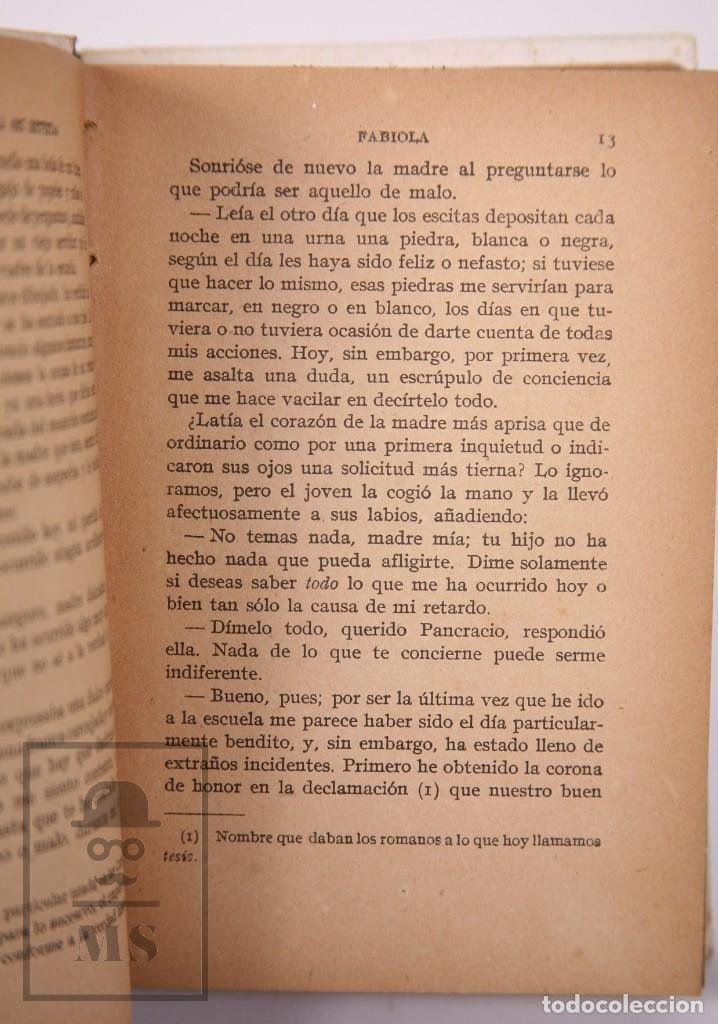 Libros antiguos: Pareja de Libros Biblioteca Mi Revista - Fabiola, Tomos 1 y 2. Cardenal Wiseman - Ed. Gallach - Foto 6 - 195262808