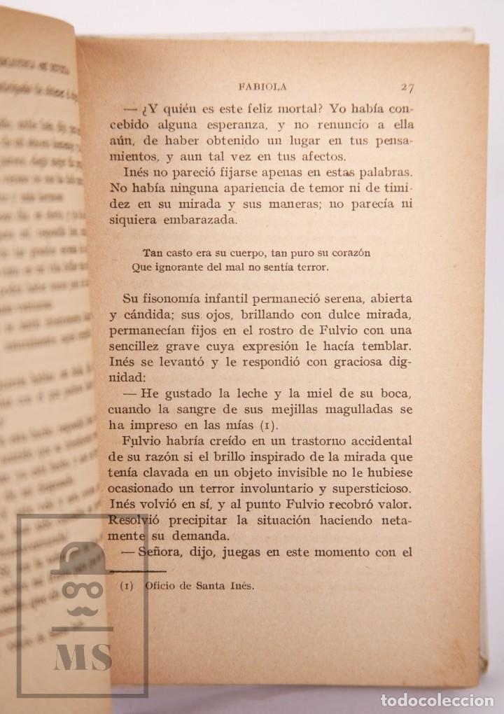 Libros antiguos: Pareja de Libros Biblioteca Mi Revista - Fabiola, Tomos 1 y 2. Cardenal Wiseman - Ed. Gallach - Foto 11 - 195262808