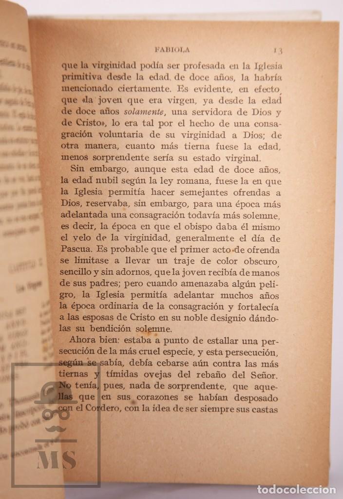 Libros antiguos: Pareja de Libros Biblioteca Mi Revista - Fabiola, Tomos 1 y 2. Cardenal Wiseman - Ed. Gallach - Foto 12 - 195262808